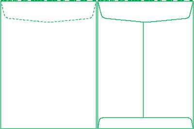 9 Envelope Template. 3 4 color specs alna envelope company inc ...